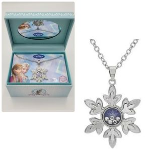 Disney Frozen Snowflake Pendant Necklace Boxed